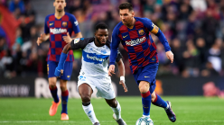 Wakaso shares his emotions with a fan after Alaves exit