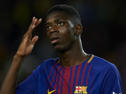 Barcelona star Dembele out for another month due to hamstring misery