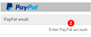 user paypal button